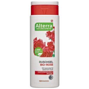 Alterra gel douche à la rose bio 250 ml