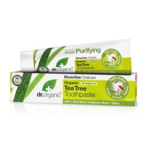 Dr organic dentifrice à l'arbre à thé BIO 100 ml