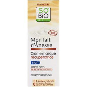 So Bio crème masque récupératrice nuit mon lait d'ânesse
