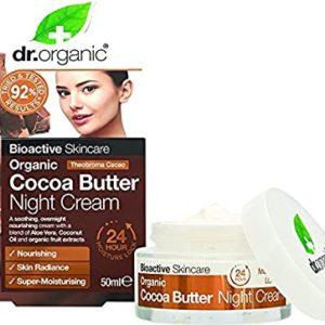 Dr. Organic creme de nuit au beurre de cacao
