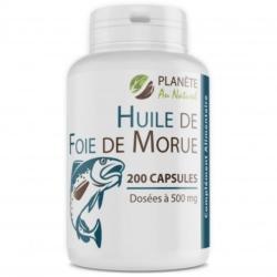 Huile de Foie de Morue 500mg – 200 capsules