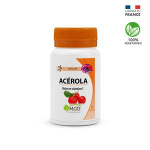 Mgd Nature Acérola Arôme Fruits Rouges – 30 Comprimés