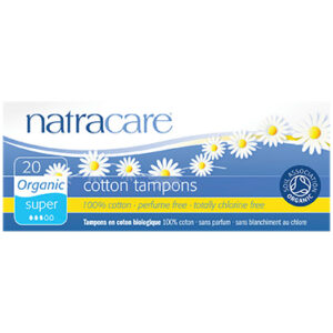 Natracare, tampons bio sans applicateur super (20 U)