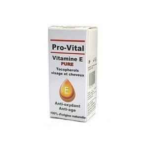Pro-Vital Vitamine E Pure Tocopherols visage et cheveux Anti-oxydant Anti-age