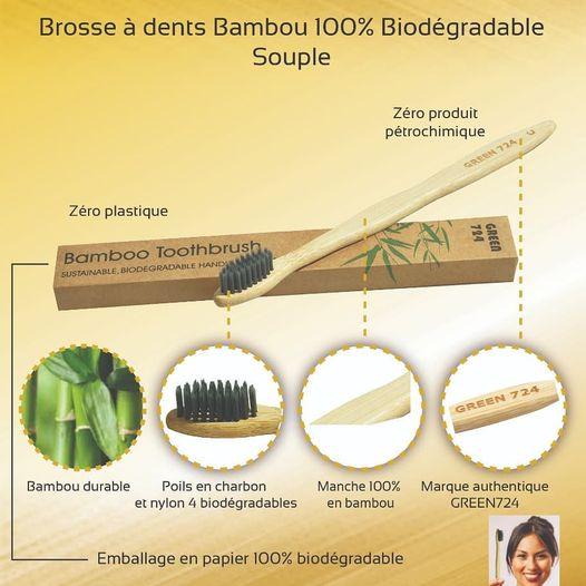 ihlashop bambou brosse à dent