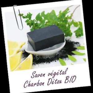 Aroma zone, savon charbon detox bio